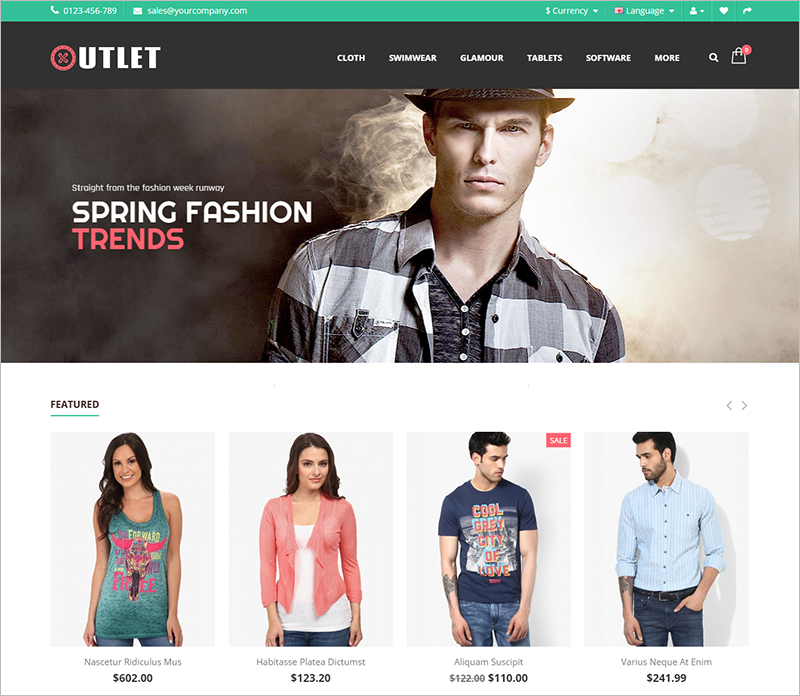 Fashion & Cloth Store Opencart Responsive Theme