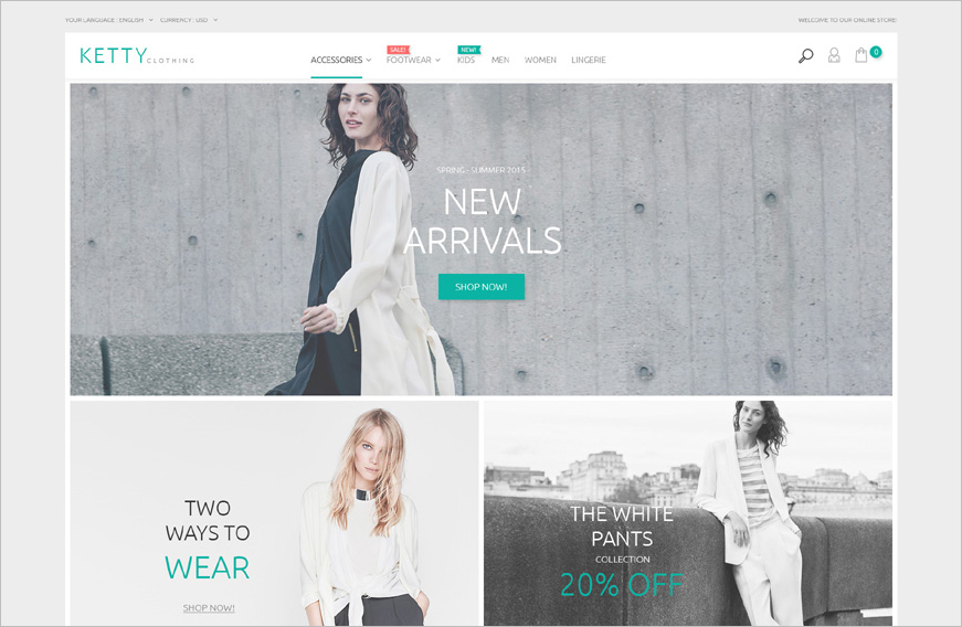 Fashion Clothes Online Shop Magento Template`