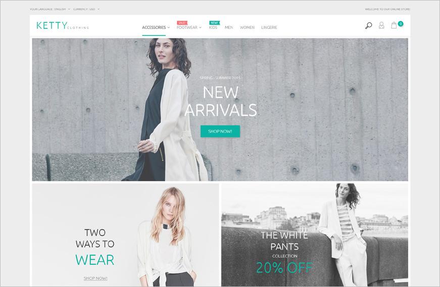 Fashion Clothes Online Shop Magento Template`