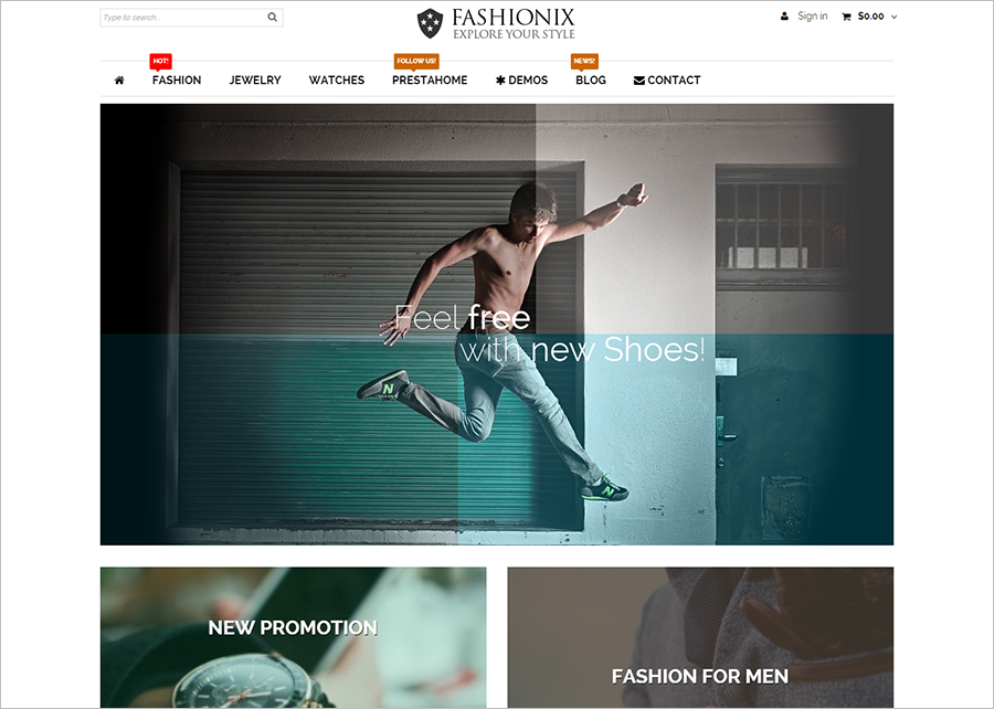 Fashion PrestaShop Theme With Multi Colors Option