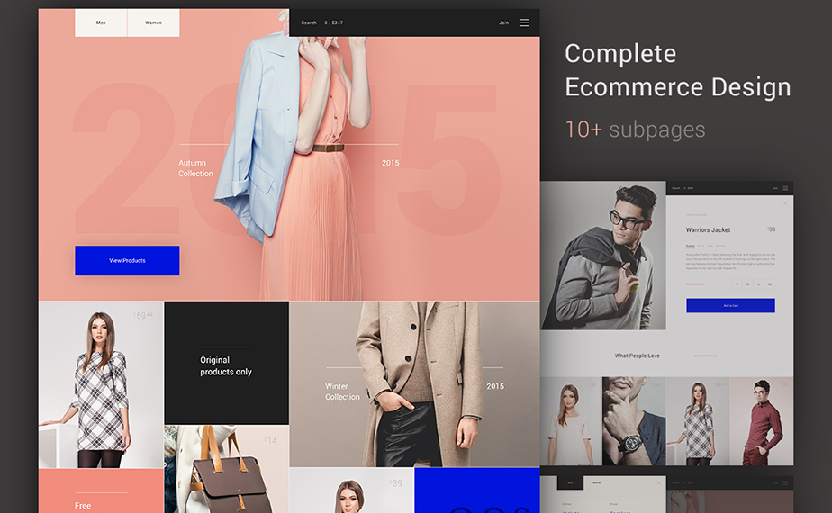 Fashion Store WebsiteTemplate