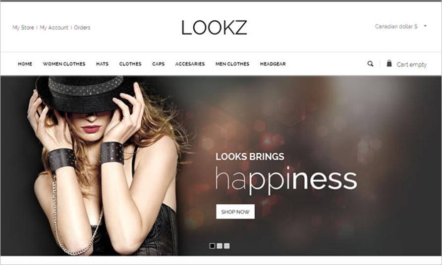 Fashion VirtueMart Template With Unlimited Banners & Sliders