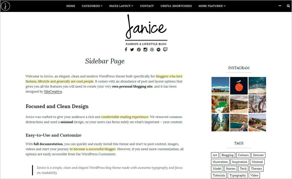 Fashion and Lifestyle WordPress Blogging Theme