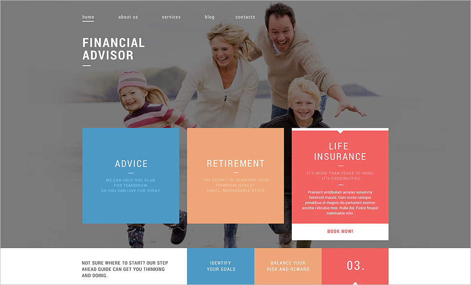 Financial Advisor Services Drupal Template