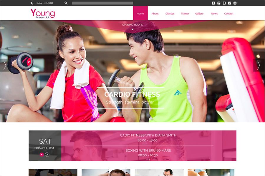 Fitness & Health Care Joomla Web Template