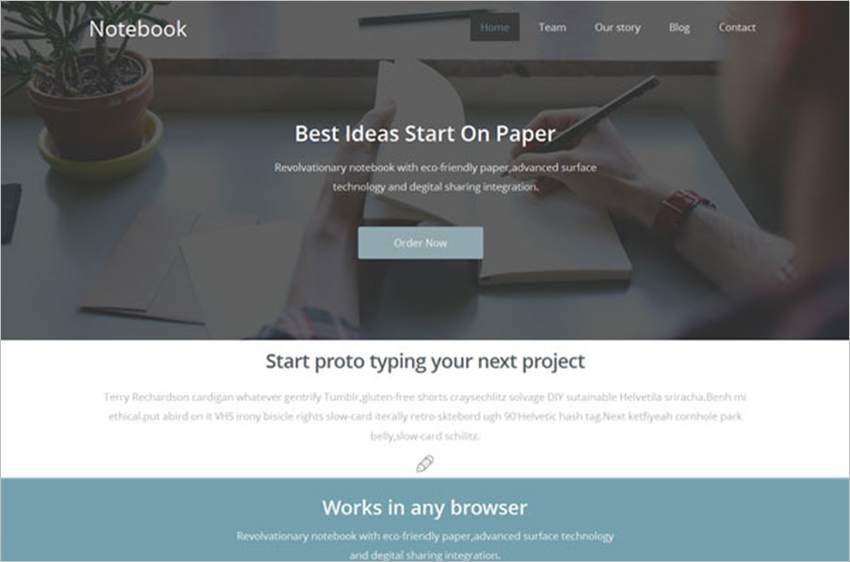 Flat Responsive Web Design Landing Page Template