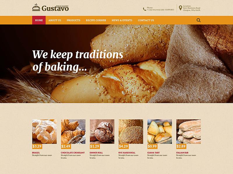Food & Drink HTML Website Template