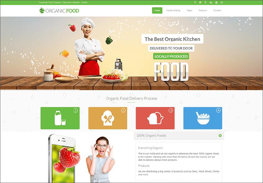 Food Responsive Drupal Theme