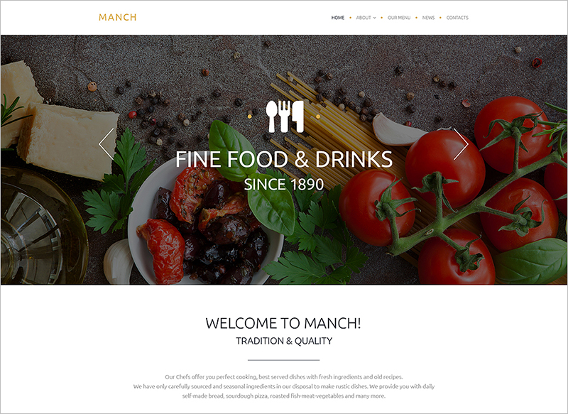 html5 restaurant website templates free premium themes