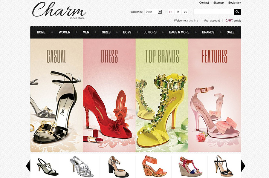 Footwear Store PrestaShop Template