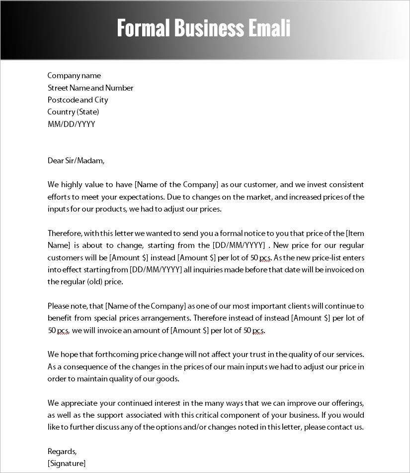 Formal Letter Templates  Free Word Documents Download  Creative