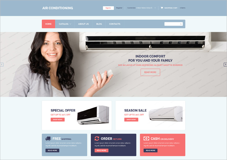 Free Electronic Shop Template