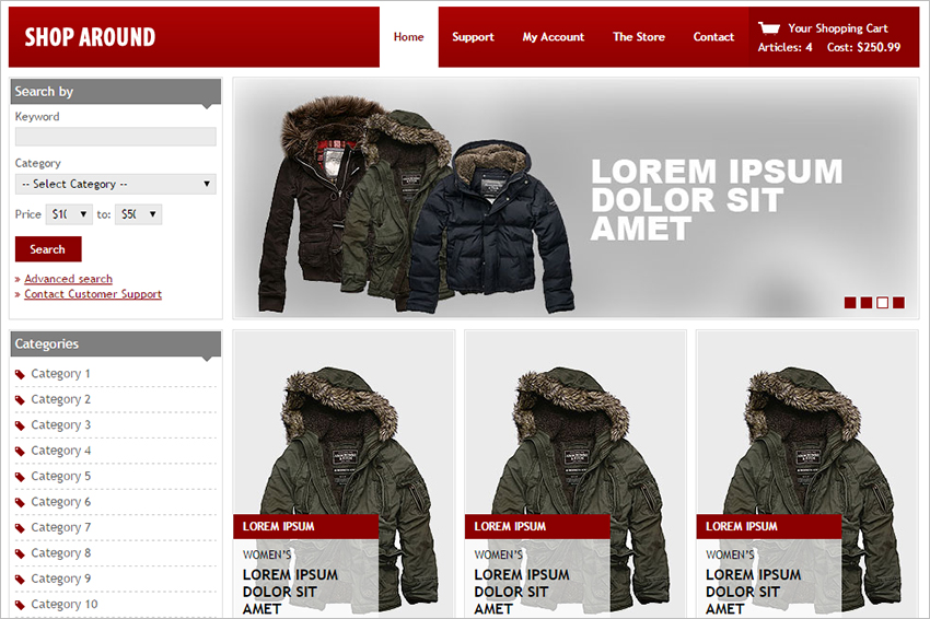 Free HTML & CSS eCommerce Template