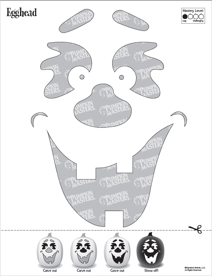 Free Halloween Carving Pattern - EggHead