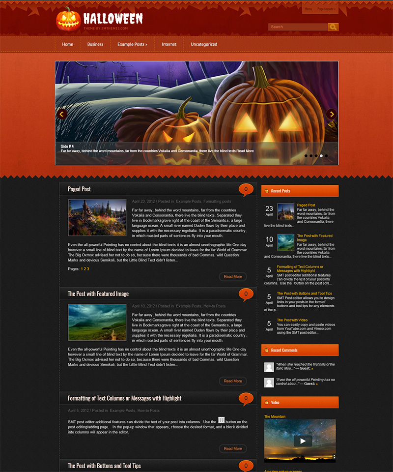 Free Halloween WordPress Themes