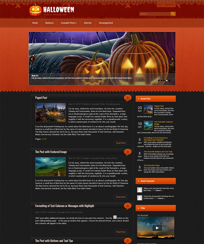 Free Halloween WordPress Themes