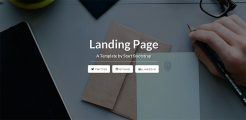 Free HTML Landing Page Templates 2017