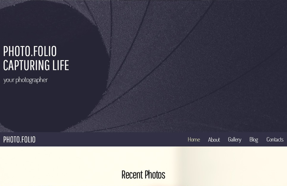 Free Responsive HTML5 Theme for Photography