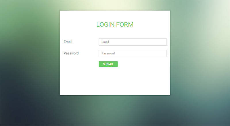 Free User Login Form Template with PHP Script