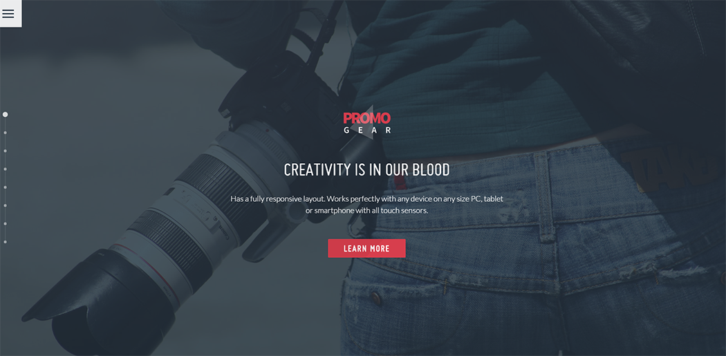 Fully Customizable HTML template