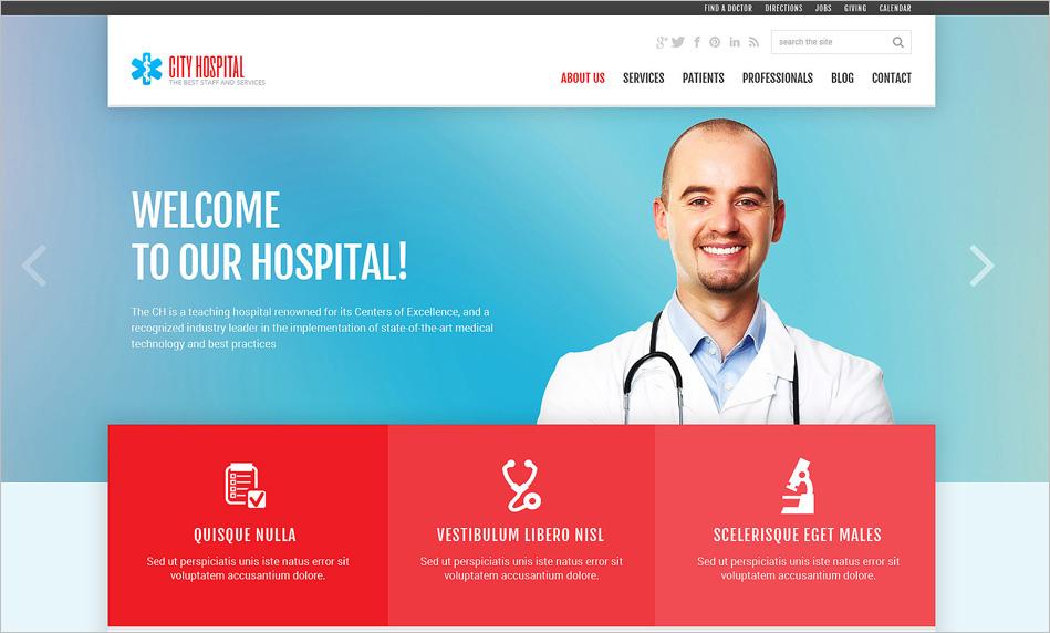 Fully Customizable Medical Joomla Theme