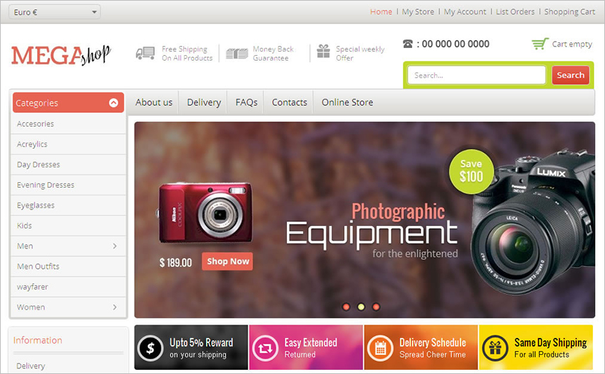 Fully Editable VirtueMart Responsive Theme