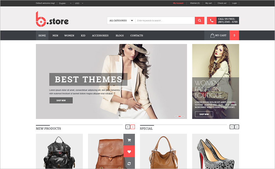 Fully Fashion Responsive Magento Theme