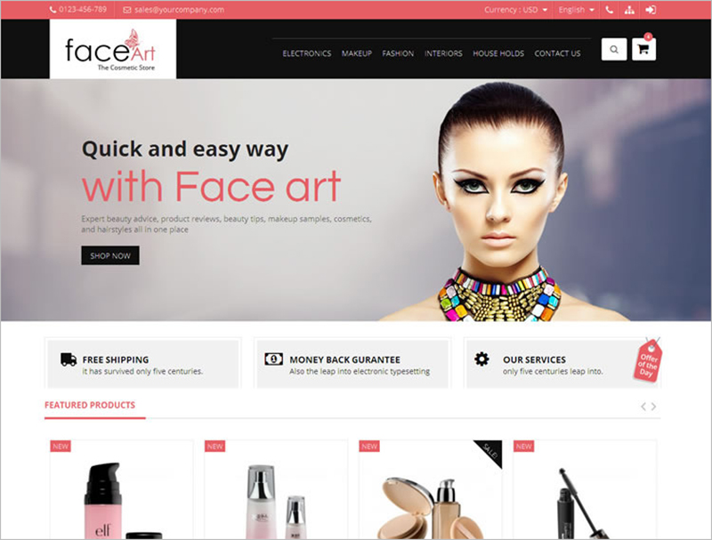 Fully Responsive Beauty PrestaShop Template
