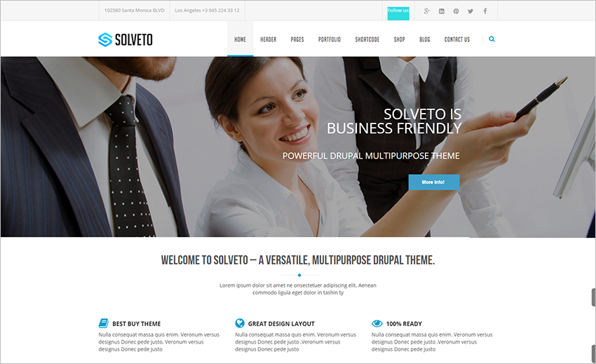 Fully Responsive Corporate Drupal Theme