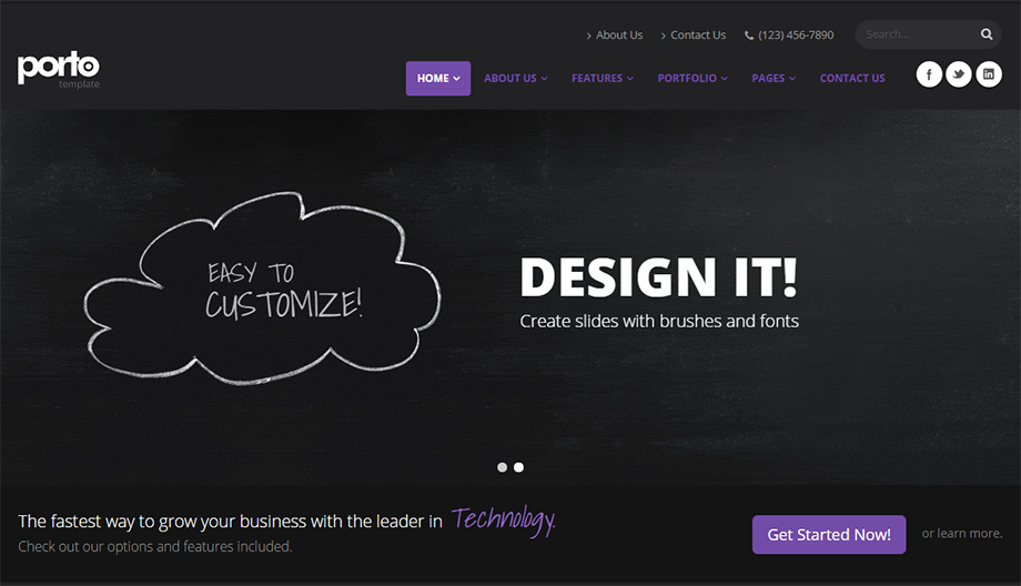 Fully Responsive Drupal Template With Unlimited Color Options