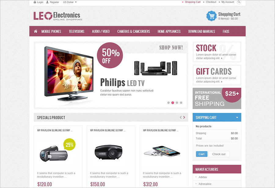 Fully Responsive Electronics Prestashop Theme
