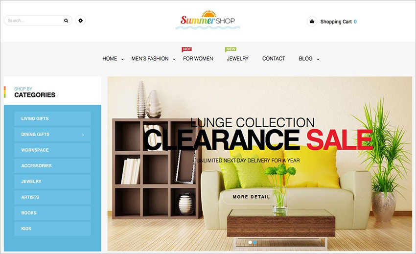 Fully Responsive Furniture Magento Template
