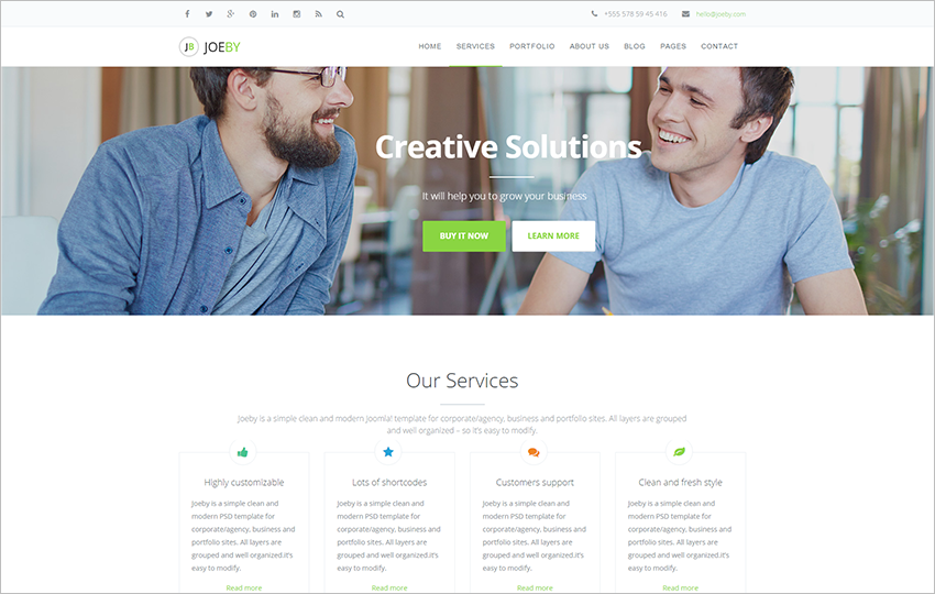 Fully Responsive Joomla Business Template