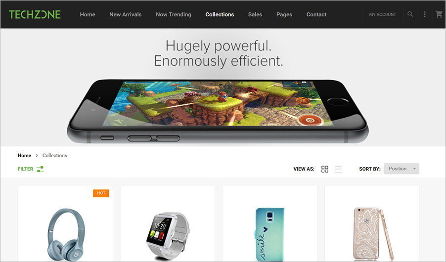 Fully Responsive Theme For Magento Unlimited Color Customization