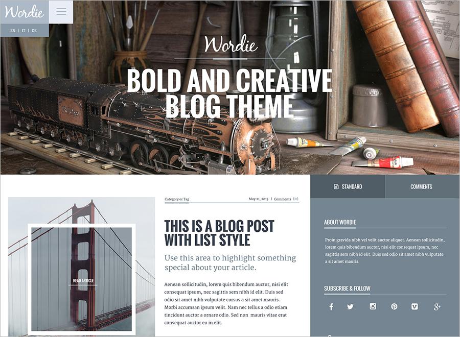 Fully Responsive WordPress Blog Theme