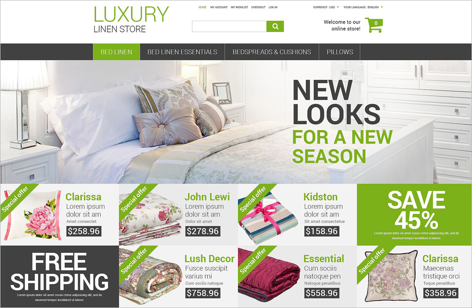 Furniture Online Store Magento Theme
