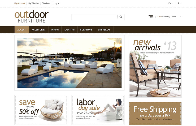Furniture Responsive Magento Template