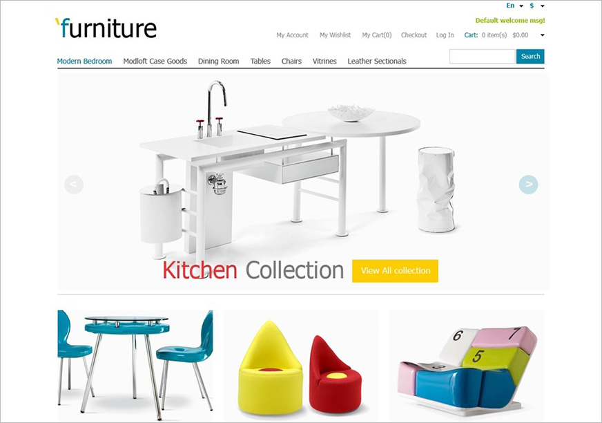 Furniture Store Magento Template