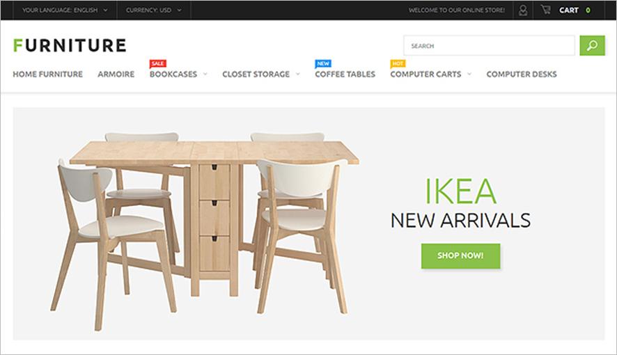 Furniture Store Magento Theme With Mega Menu