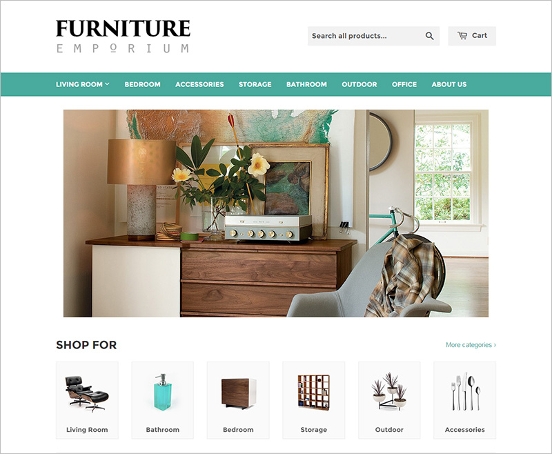 Furniture Store Website Template Free Download