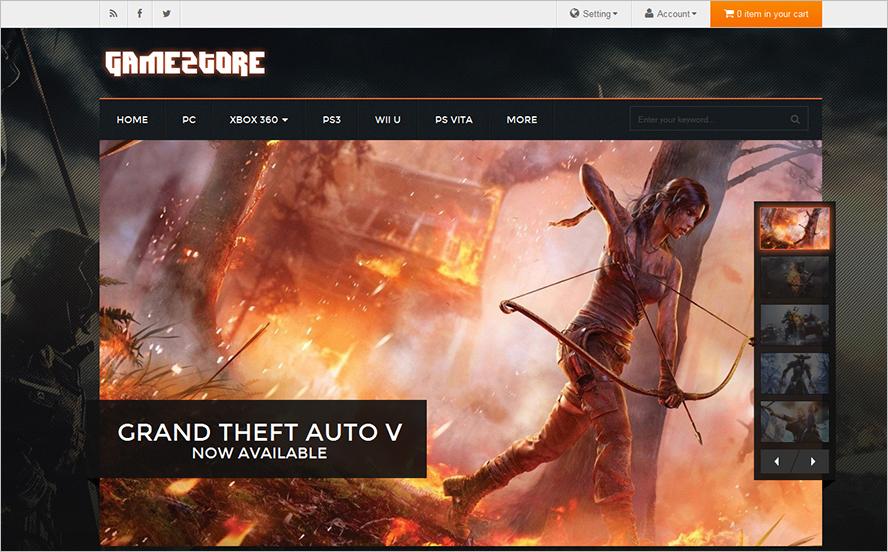 Game Store Magento Theme