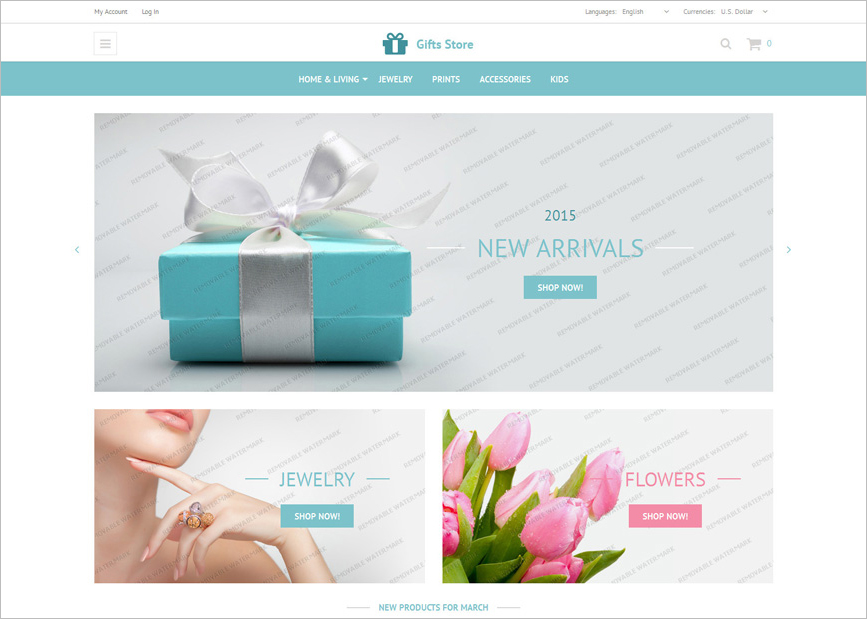 Gift Shop Template Free Download