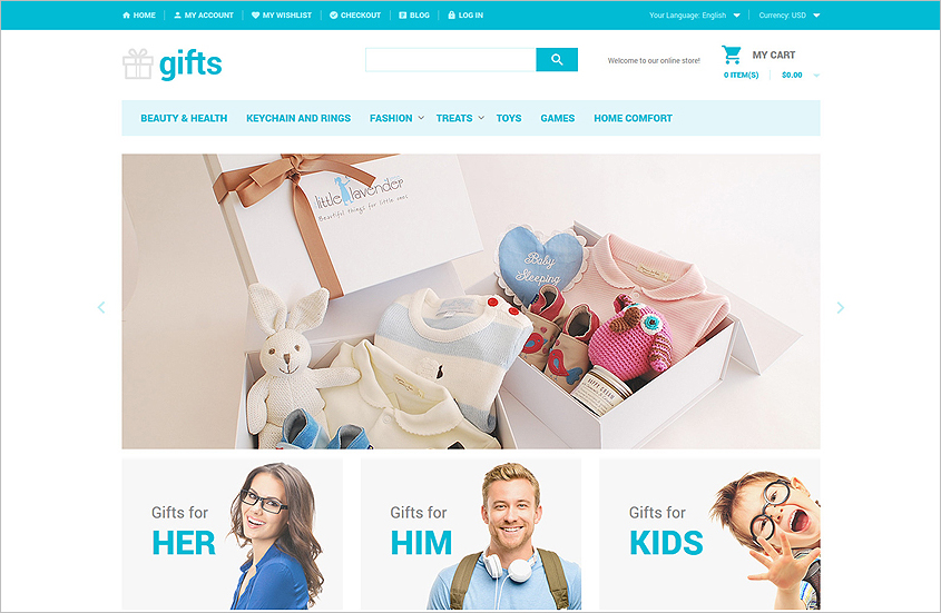 Gifts Store Website Magento Theme