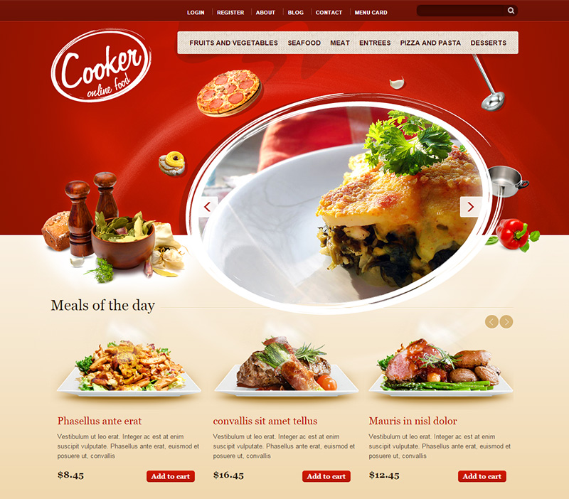 Great HTML5 & CSS3 Drupal Theme for Restaurant
