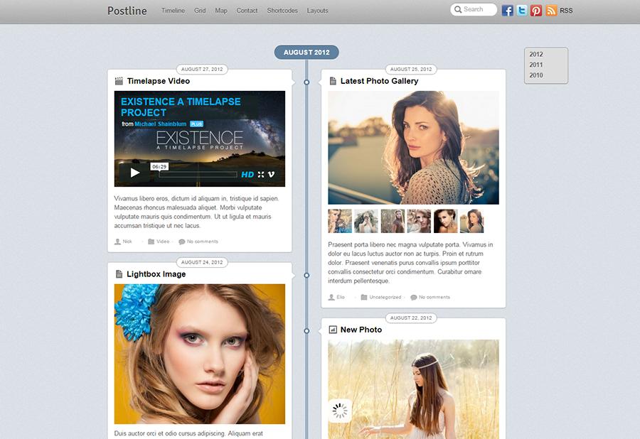 Grid Layout Blog WordPress Template