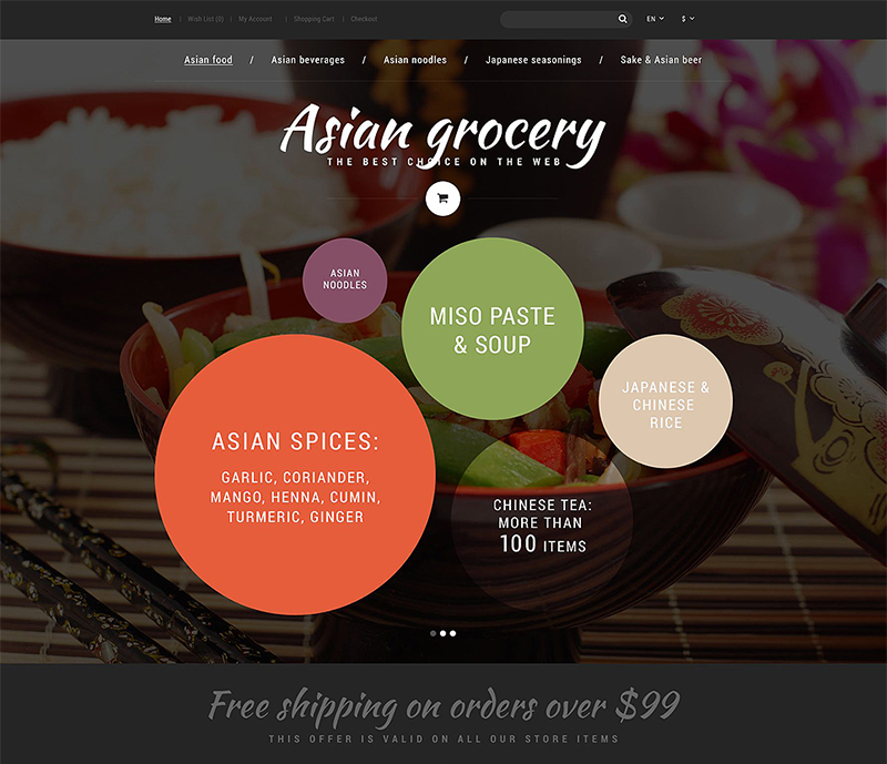 Grocery Store OpenCart Website Template