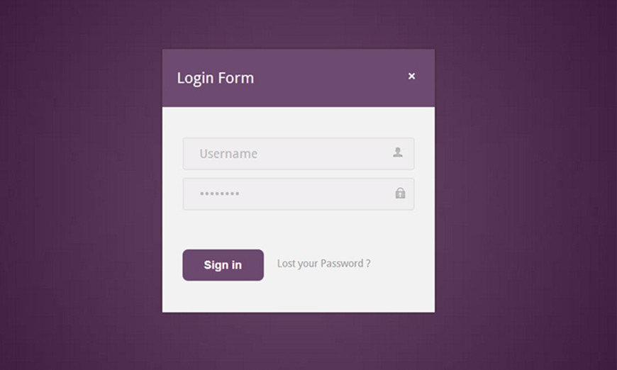 HTML Login Page Template