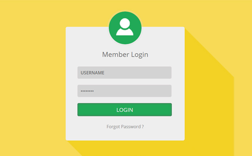 HTML Member Login Page Template