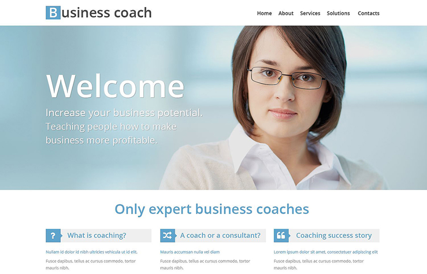 HTML Template For Business School