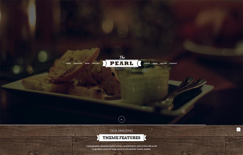 HTML Template for Pub, Cafe, Bar, Restaurant